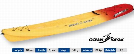 OCEAN KAYAK SCRAMBLER(fiskekajak) - Mariagerfjordkajak.dk