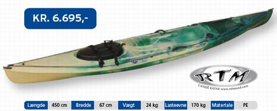 RTM Tempo Angler(fiskekajak) - Mariagerfjordkajak.dk